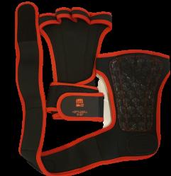 Grepp för tyngdlyftning med handledsstöd svart / röd