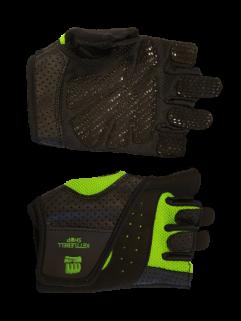 Fitnesshandske, neongrön / svart
