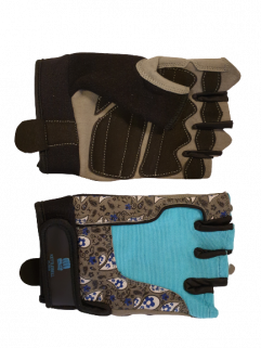 Fitness gloves, turkos / svart