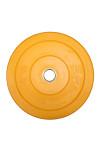 Gul 15 kg Color Bumper Plate fra KettlebellShop™