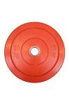 Rød 25 kg Color Bumper Plate fra KettlebellShop™