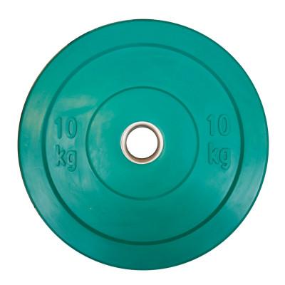 Grøn 10 kg Color Bumper Plate fra KettlebellShop™