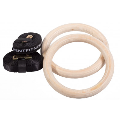 Gym rings Wood by KettlebellShop